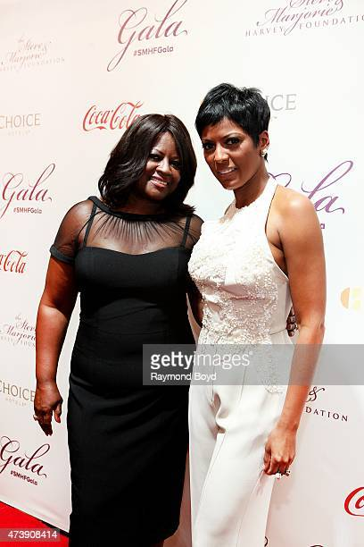 MSNBC news anchor Tamron Hall and her mother Mary Newton attends the 2015 Steve and Marjorie Harvey Foundation Gala at the Hilton Chicago on May 16...