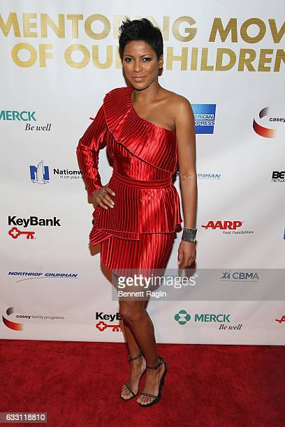 News anchor Tamron Hall attends the National CARES Mentoring Movement's 2nd Annual 'For the Love of Our Children' Gala at Cipriani 42nd Street on...