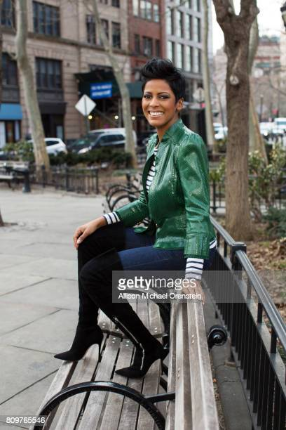 News anchor Tamron Hall is photographed for People Magazine on March 3 2016 in New York City