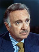 News anchor Walter Cronkite poses for a portrait circa 1970 in New York City New York