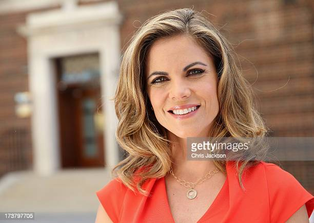 News Anchor with NBC Natalie Morales poses for a portrait outside the Lindo wing of St Mary's Hospital as the UK prepares for the birth of the first...