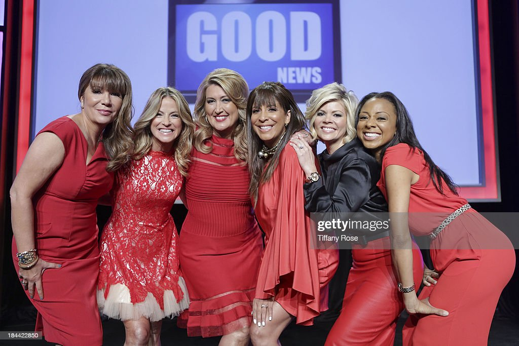 News Anchors Ana Garcia, Dorothy Lucey, Wendy Burch, Christine Devine, Leslie Miller and Nischelle Turner attend the Good News Foundation's Feel Good event of the year honoring Maria Shriver with the Lifetime Achievement Award at The Beverly Hilton Hotel on October 13, 2013 in Beverly Hills, California.