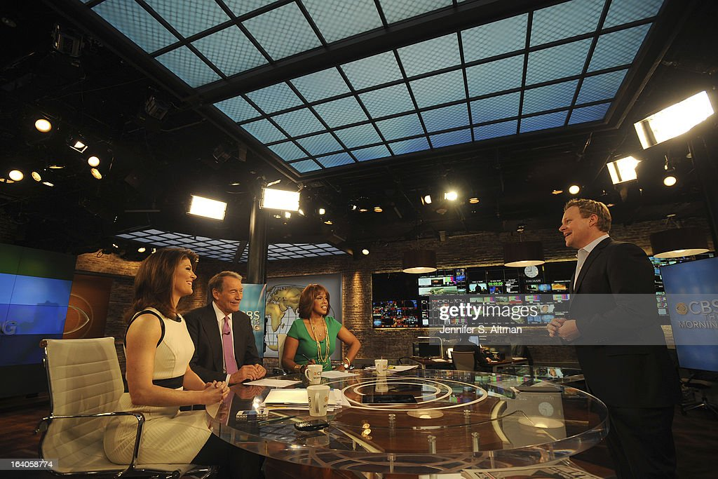 News anchors <a gi-track='captionPersonalityLinkClicked' href=/galleries/search?phrase=Charlie+Rose&family=editorial&specificpeople=535420 ng-click='$event.stopPropagation()'>Charlie Rose</a>, <a gi-track='captionPersonalityLinkClicked' href=/galleries/search?phrase=Gayle+King&family=editorial&specificpeople=215469 ng-click='$event.stopPropagation()'>Gayle King</a> and Norah O'Donnell are photographed with Chris Licht, Vice President, Programming and Executive Producer of 'CBS This Morning', for Los Angeles Times on January 29, 2013 in New York City. PUBLISHED