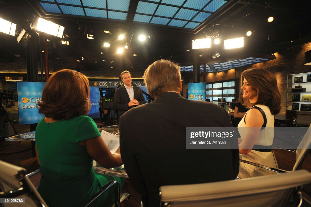 News anchors <a gi-track='captionPersonalityLinkClicked' href=/galleries/search?phrase=Charlie+Rose&family=editorial&specificpeople=535420 ng-click='$event.stopPropagation()'>Charlie Rose</a>, <a gi-track='captionPersonalityLinkClicked' href=/galleries/search?phrase=Gayle+King&family=editorial&specificpeople=215469 ng-click='$event.stopPropagation()'>Gayle King</a> and Norah O'Donnell are photographed with Chris Licht, Vice President, Programming and Executive Producer of 'CBS This Morning', for Los Angeles Times on January 29, 2013 in New York City. PUBLISHED IMAGE.