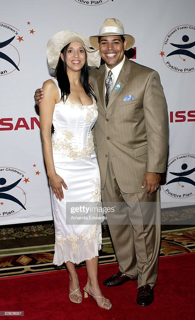 News anchors Christine Devine and Chris Schauble arrive at the Rowell Foster Children's Positive Plan 3rd Annual High Tea at the Century Plaza Hotel and Spa on May 14, 2005 in Century City, California.