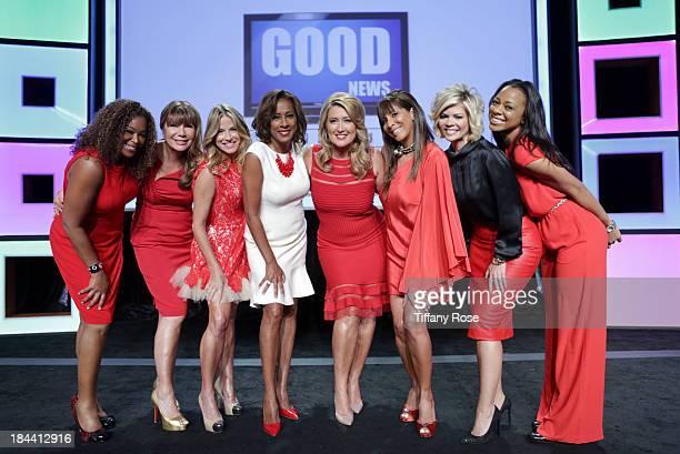 News anchors Deborah Duncan Ana Garcia Dorothy Lucey Pat Harvey Wendy Burch Christine Devine Leslie Miller and Nischelle Turner attend the Good News...