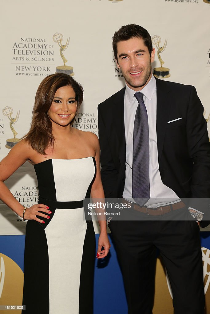 News Anchors Sibila Vargas and Rob Schmitt arrive at the 57th Annual New York Emmy awards at Marriott Marquis Times Square on March 30, 2014 in New York City.