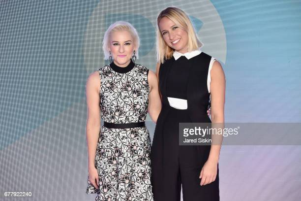 News and Culture Director Lindsay Miller and designer Misha Nonoo attend POPSUGAR 2017 Digital NewFront at Industria Studios on May 3 2017 in New...