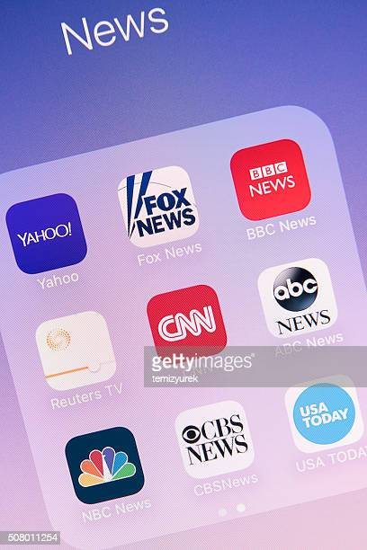 News Apps on Apple iPhone 6s Plus Screen