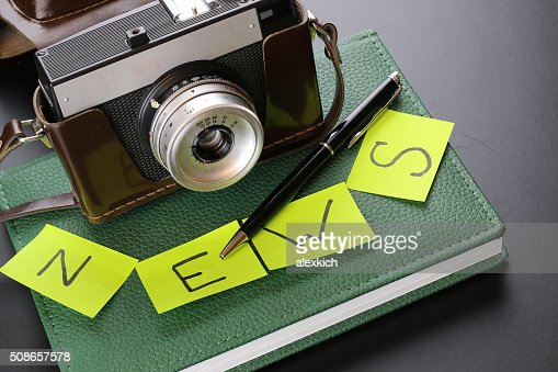 News camera journalism : Stock Photo