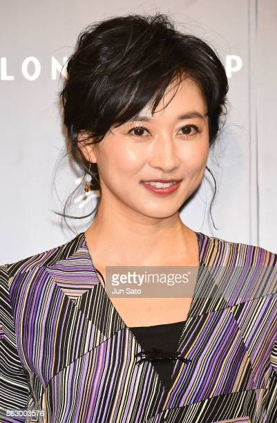 News caster Rei Kikukawa attends the opening ceremony of Longchamp La Maison Omotesando flagship store on October 19 2017 in Tokyo Japan