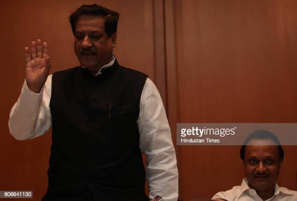 News CM Prithviraj Chavan and Dy CM Ajit Pawar addressing to media at press confrence held at Sahyadri in Mumbai on Saturday