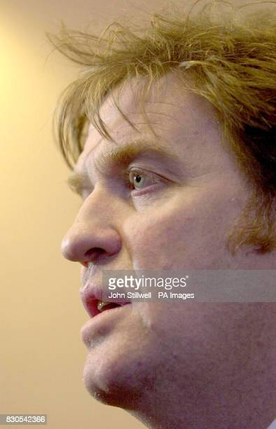 A news conference in Ryde Isle of Wight of Tim Blackman the father of Lucie Blackman the British girl who has been missing in Japan since July 2000 A...
