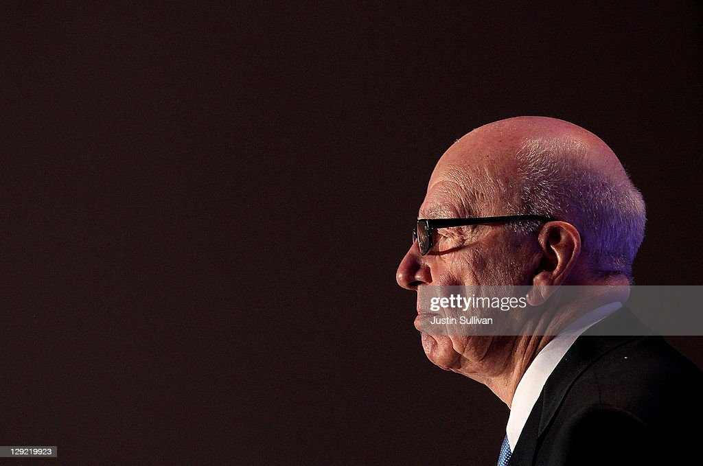 News Corp. CEO <a gi-track='captionPersonalityLinkClicked' href=/galleries/search?phrase=Rupert+Murdoch&family=editorial&specificpeople=160571 ng-click='$event.stopPropagation()'>Rupert Murdoch</a> pauses as he delivers a keynote address at the National Summit on Education Reform on October 14, 2011 in San Francisco, California. <a gi-track='captionPersonalityLinkClicked' href=/galleries/search?phrase=Rupert+Murdoch&family=editorial&specificpeople=160571 ng-click='$event.stopPropagation()'>Rupert Murdoch</a> was the keynote speaker at the two-day National Summit on Education Reform.