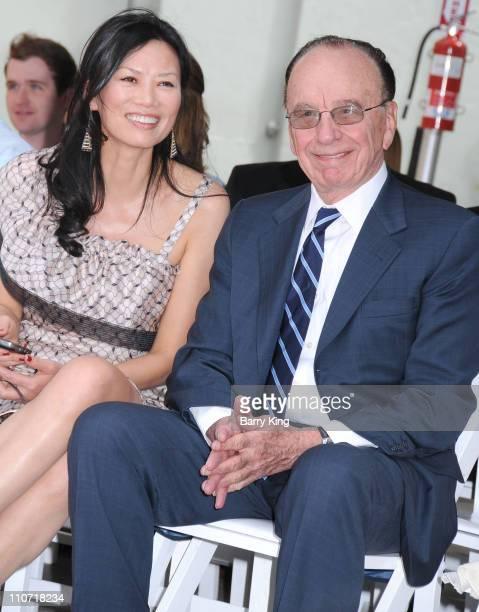 News Corp Chairman and CEO Rupert Murdoch and wife Wendi Murdoch attend the handprint and footprint ceremony honoring Hugh Jackman at Grauman's...