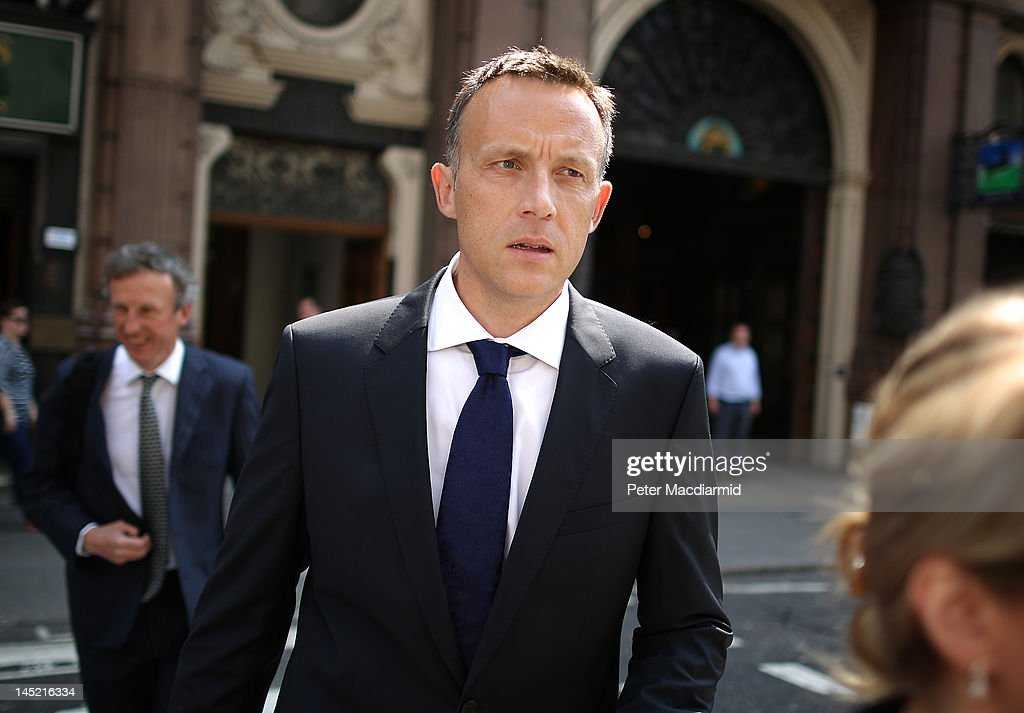 News Corporation lobbyist Fred Michel walks to The Royal Courts of Justice to give evidence to The Leveson Inquiry on May 24 2012 in London England...