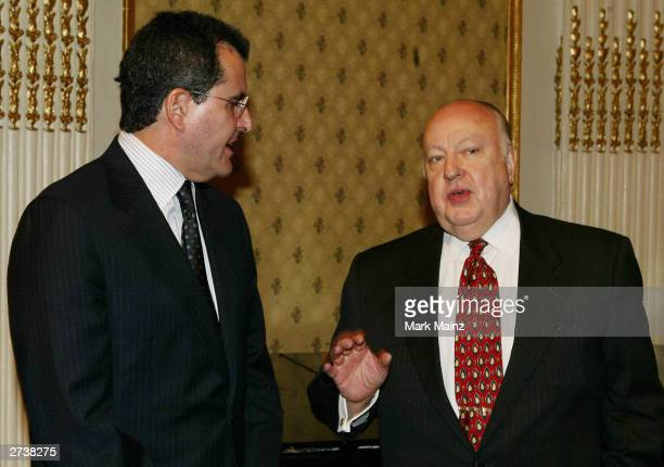 News Corp's President CEO Peter Chernin and Roger Ailes attends the Centre for Communications Luncheon Honoring Peter Chernin at the Plaza Hotel...