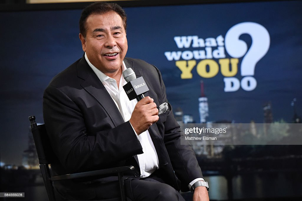 News correspondent John Quinones attends AOL Build presents John Quinones discussing the show 'What Would You Do' at AOL HQ on July 29 2016 in New...