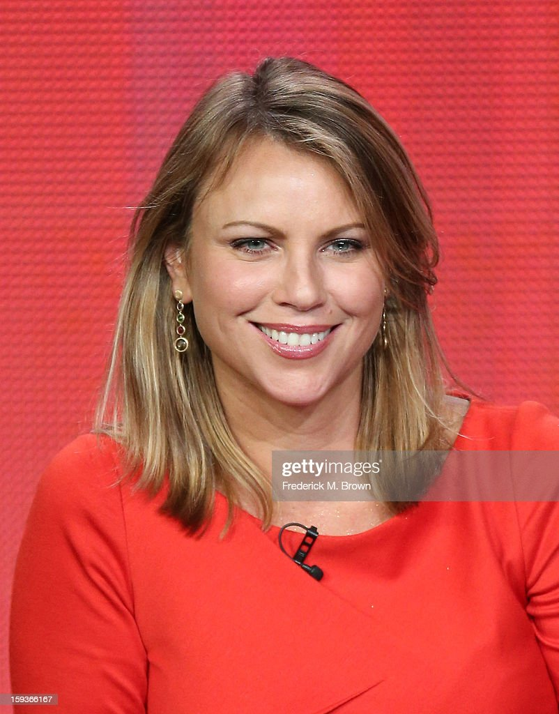 News correspondent Lara Logan of '60 Minutes Sports' speaks onstage during the Showtime portion of the 2013 Winter TCA Tour at Langham Hotel on January 12, 2013 in Pasadena, California.