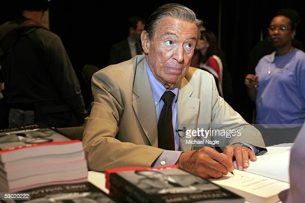 News Correspondent Mike Wallace signs his book at the 2005 Book Expo held at the Javits Center on June 4 in New York The Book Expo is the largest...