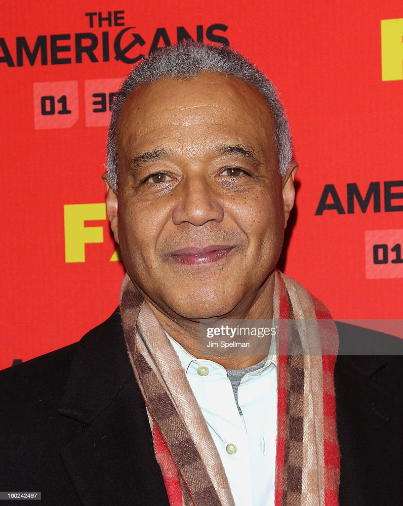 TV news correspondent Ron Claiborne attends FX's 'The Americans' Season One New York Premiere at DGA Theater on January 26, 2013 in New York City.