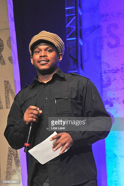 News Correspondent Sway Colloway hosts ÒThe Get Schooled National Challenge TourÓ at Abraham Lincoln High School on October 1 2010 in Philadelphia...