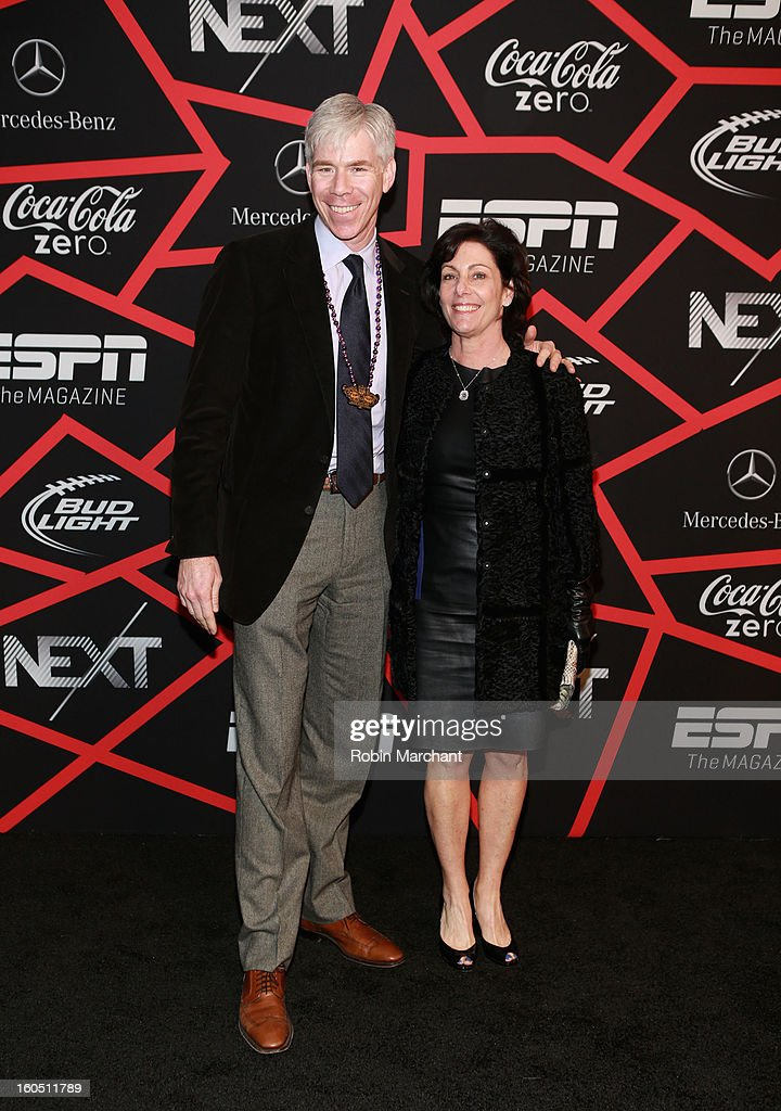 News' David Gregory and Beth Wilkinson attend ESPN The Magazine's 'NEXT' Event at Tad Gormley Stadium on February 1, 2013 in New Orleans, Louisiana.