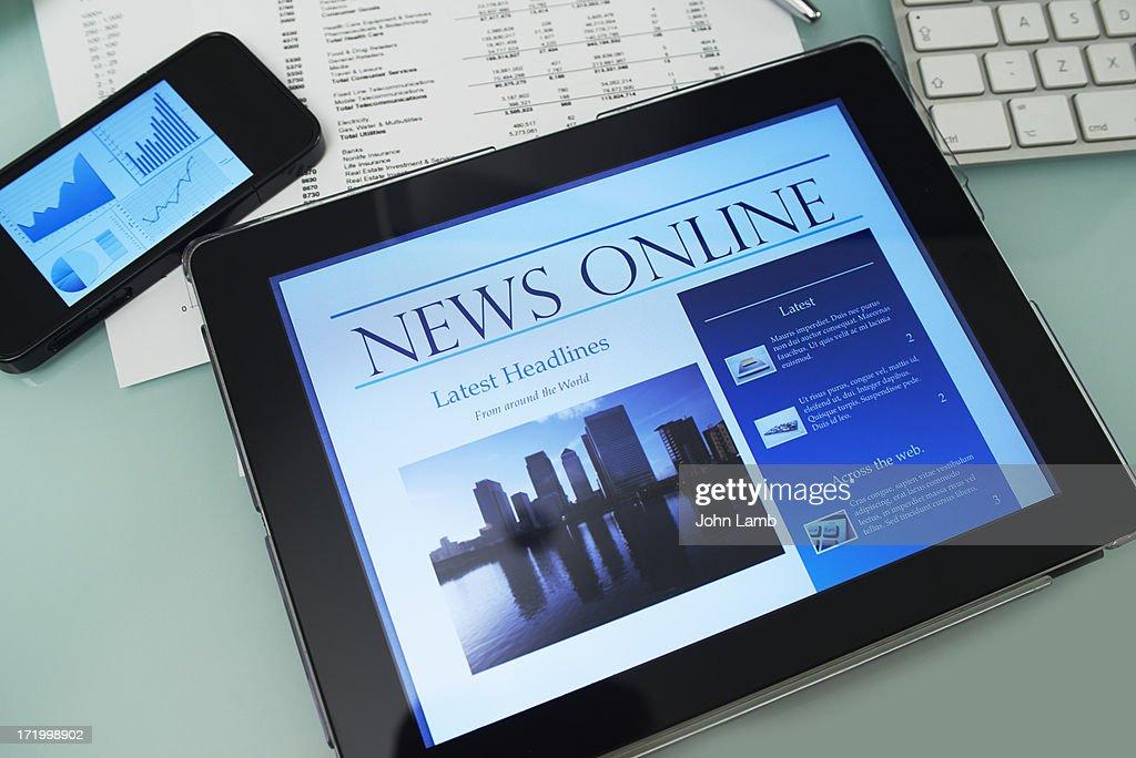 News desk : Stock Photo