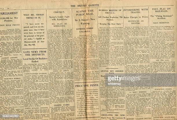 News dal British Gazette possono 1926