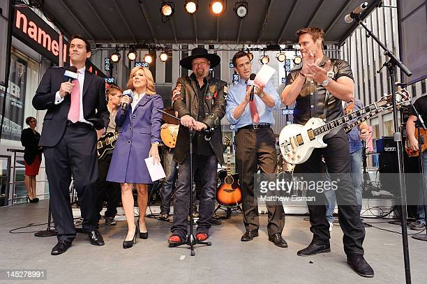 FOX News host Clayton Morris FOX News host Alisyn Camerota country musician Eddie Montgomery FOX News host Dave Briggs and country musician Troy...