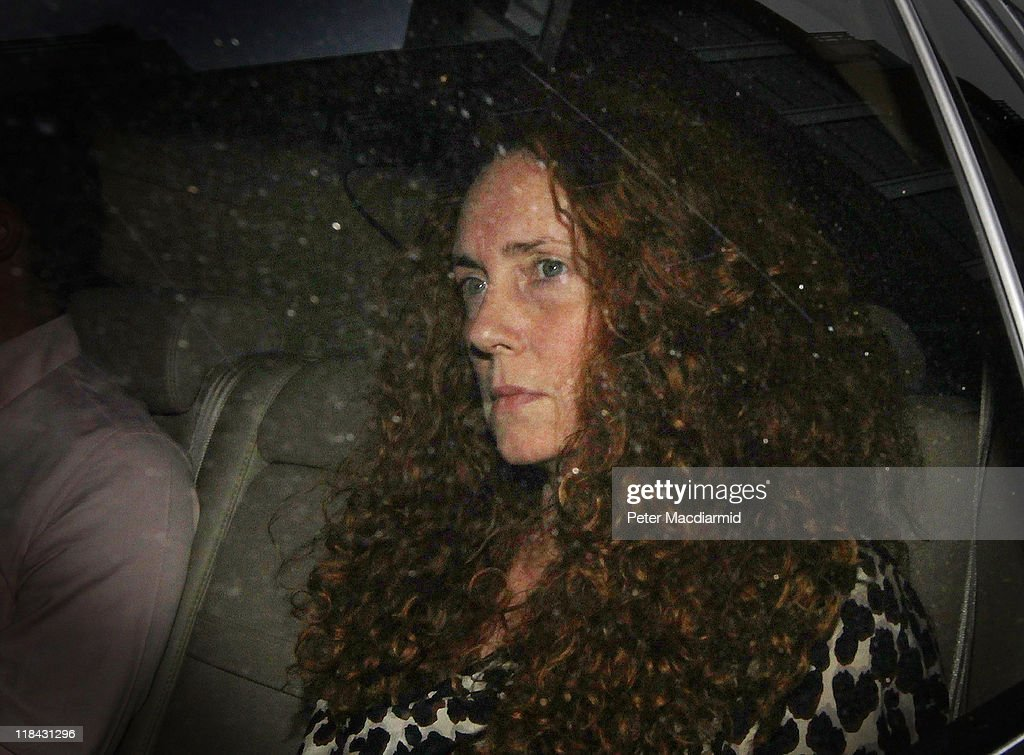 News International chief executive <a gi-track='captionPersonalityLinkClicked' href=/galleries/search?phrase=Rebekah+Brooks&family=editorial&specificpeople=6848116 ng-click='$event.stopPropagation()'>Rebekah Brooks</a> leaves the office of The News of The World on July 7, 2011 in London, England. Following further serious allegations that phone hacking was widespread at the News of the World newspaper, Chief Executive of News Crop. James Murdoch has announced the newspaper will close..