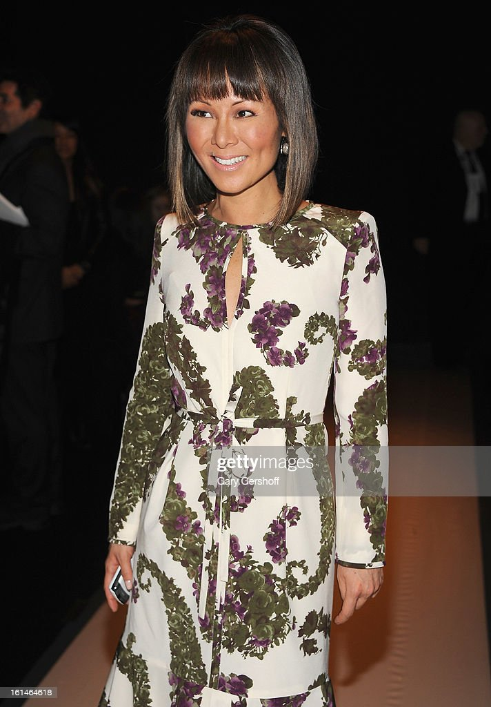 TV news journalist Alina Cho attends Carolina Herrera during Fall 2013 Mercedes-Benz Fashion Week at The Theatre at Lincoln Center on February 11, 2013 in New York City.