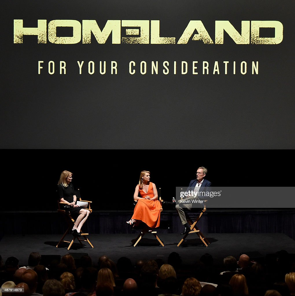 ABC News journalist Martha Raddatz actress Claire Danes and Executive Producer Alex Gansa appear at a screening of Showtime's 'Homeland' Season 3...