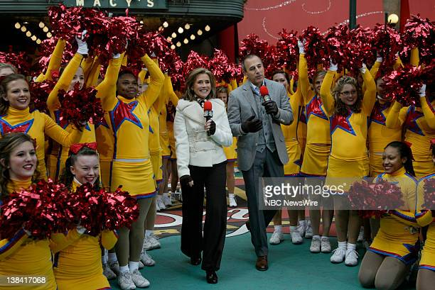 NBC News Macy's Thanksgiving Day Parade Pictured Meredith Vieira and Matt Lauer open the Macy's Thanksgiving Day Parade in Herald Square in New York...