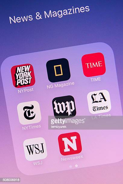 News & Magazines Apps on Apple iPhone 6s Plus Screen