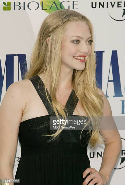 NBC News 'Mamma Mia' Premiere Pictured Actress Amanda Seyfried attends the New York premiere of the movie 'Mama Mia' at the Zeigfeld Theater on July...