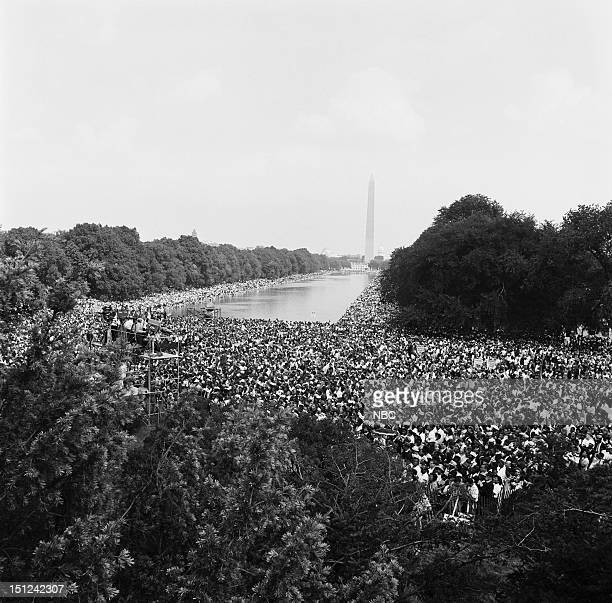 NBC News MARCH ON WASHINGTON FOR JOBS AND FREEDOM 1968 Pictured Crowds gather at the National Mall during the March on Washington for Jobs and...