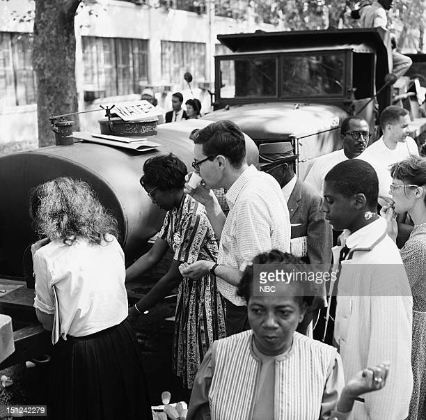 NBC News MARCH ON WASHINGTON FOR JOBS AND FREEDOM 1968 Pictured People waiting in integrated water lines during the March on Washington for Jobs and...