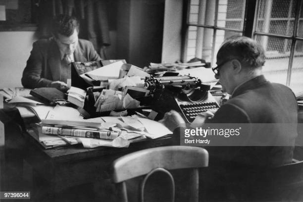 News Of The World crime reporter Norman Rae at the paper's offices in London April 1953 Original publication Picture Post 6488 The 'News Of The...