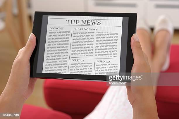 News on digital tablet