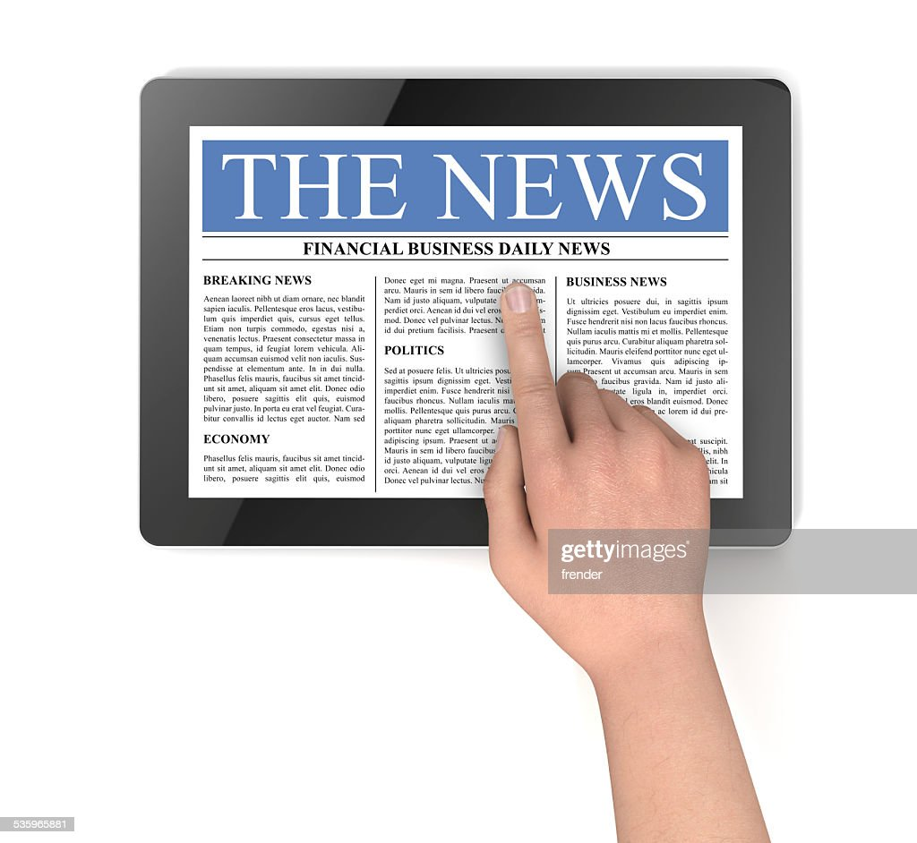 news on tablet computer : Stock Photo