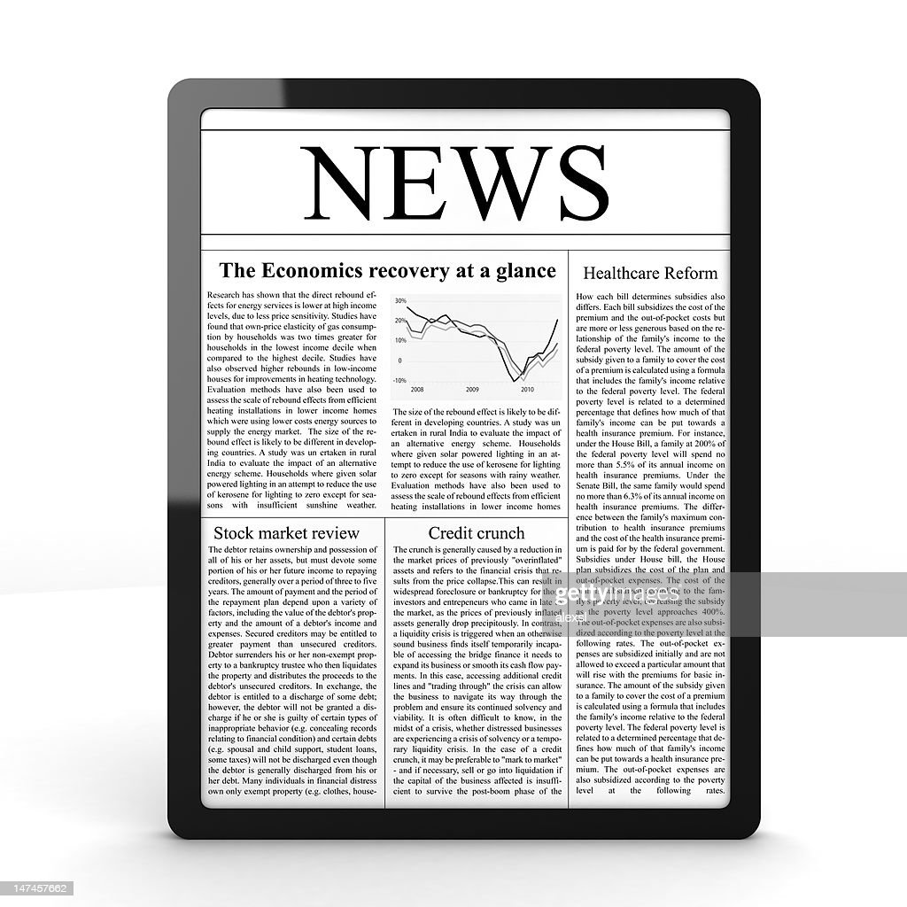 News on Tablet PC : Stock Photo