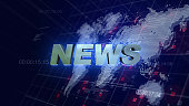 News Opening Graphics World Map Blue Background