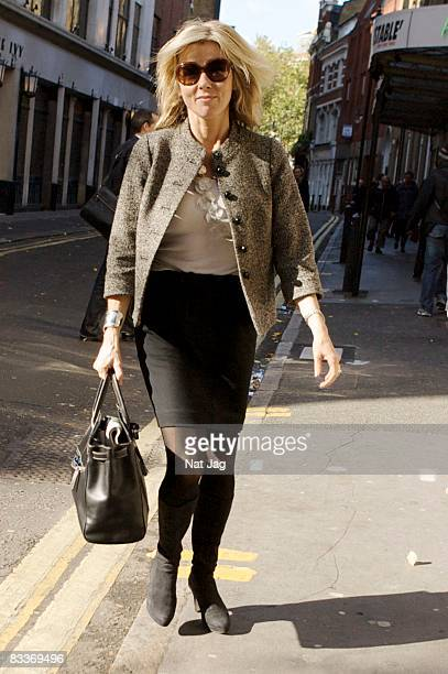 TV news personality Mary Nightingale sighting in Covent Garden on October 21 2008 in London England