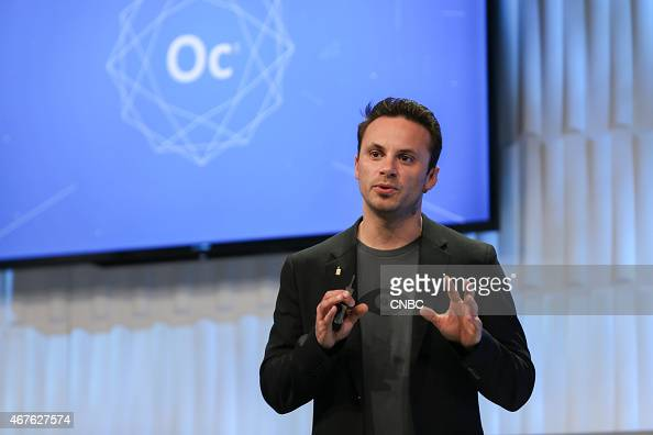 Brendan Iribe Oculus CEO speaks at f8 Facebook's Developers Conference in San Francisco CA on March 25 2015