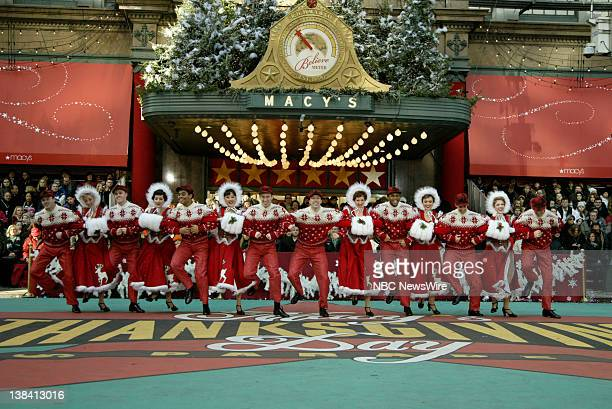 The cast of Irving Berlins ' White Christmas' performs at the Macy's Thanksgiving Day Parade in Herald Square on November 28 2008