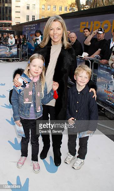 TV News Presenter Mary Nightingale attends the 'Happy Feet Two' european premiere at the Empire Leicester Square on November 20 2011 in LondonEngland