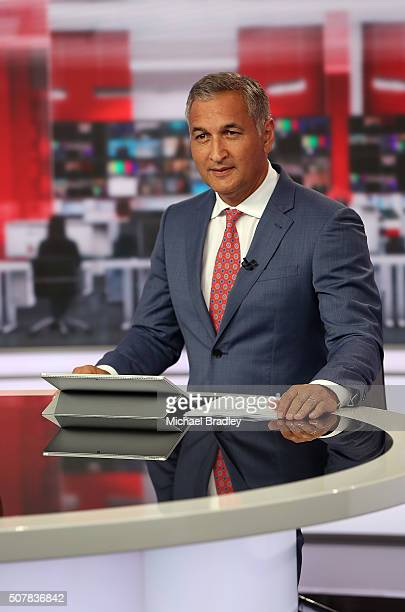 News presenter Mike McRoberts during the first episode of MediaWorks new nightly news show Newshub Live at 6pm on February 1 2016 in Auckland New...