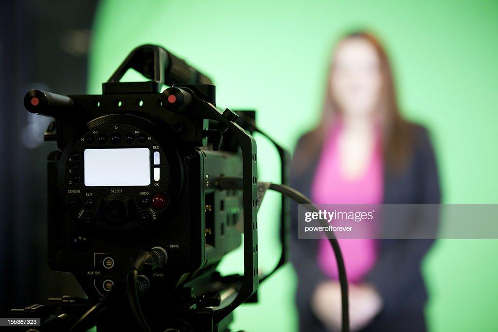 News Presenter on Green Screen
