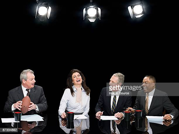 News presenters laughing